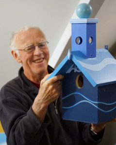 Graeme Chalmers with Birdhouse
