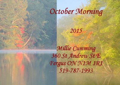 quilt label October Morning 2015