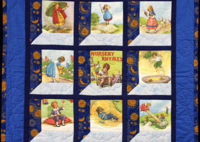 Andrew`s nursery rhyme quilt, 1993