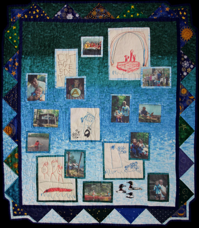 Andrew`s cottage quilt, 1995