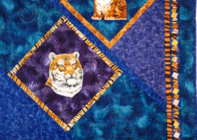 Jan`s Tiger quilt, 1999
