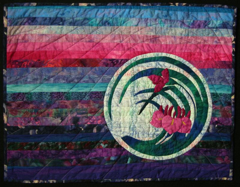 Irises and Full Moon, 2001