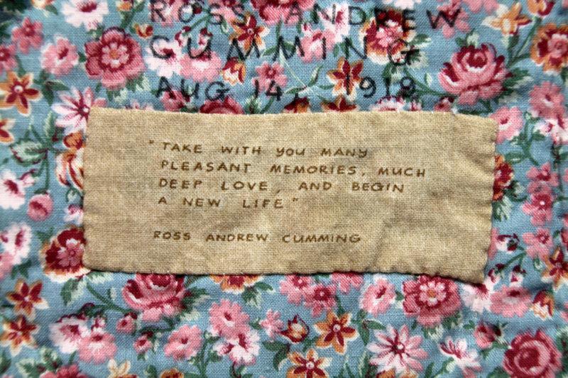 Andrew`s baby quilt label part 2 - 1993
