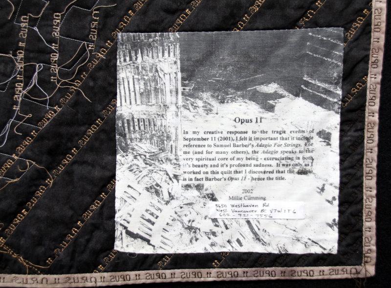 Label on Opus 11, 2002