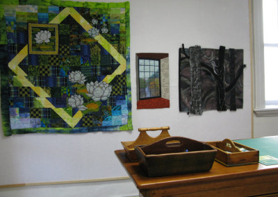 Reflections, Waterlily Bay II, and Nocturne in Millie`s studio