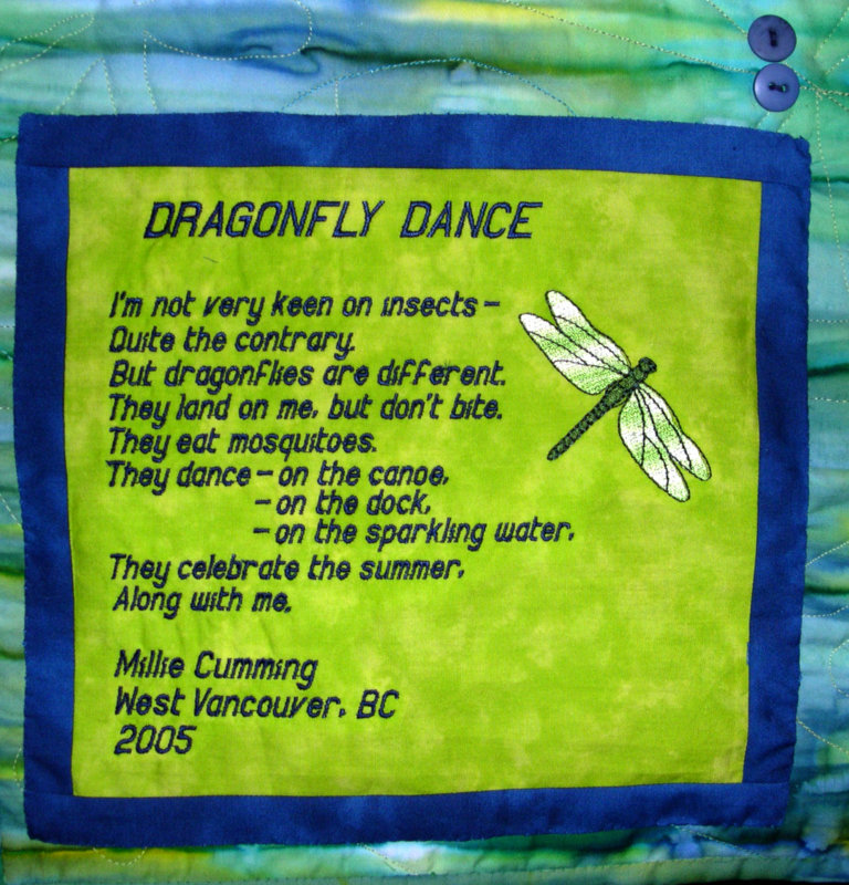 Label on Dragonfly Dance, 2005