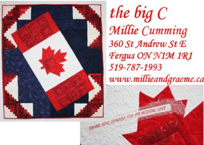 quilt label the big C