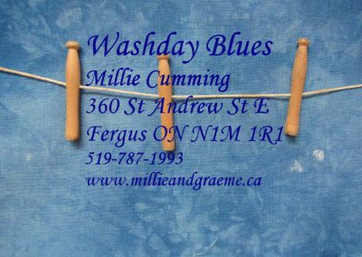 quilt label Washday Blues