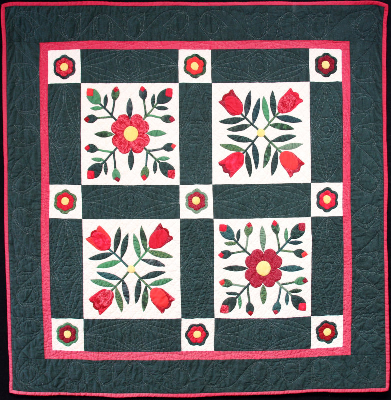 Flowers for My Loved One quilt