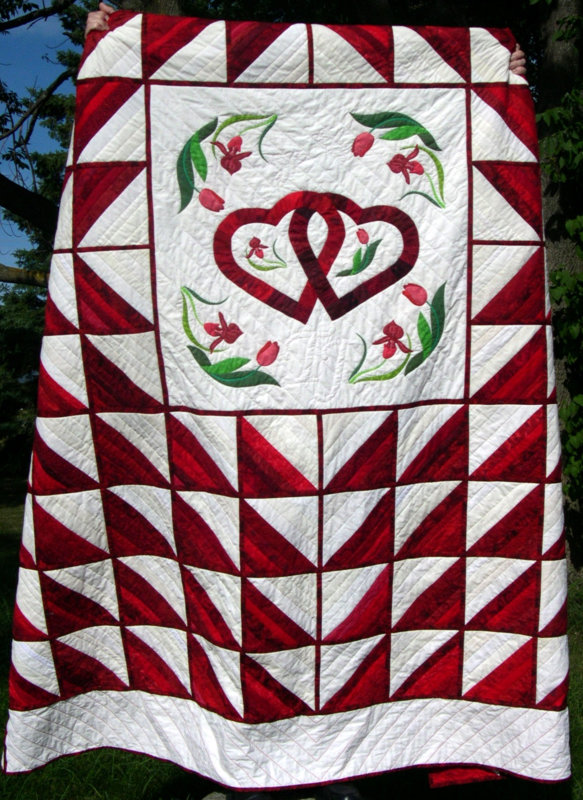 Wedding quilt for Tim and Judith, 2005