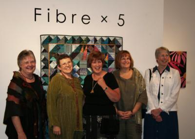 Fiber X 5 Show - participating artists, North Vancouver, 2006