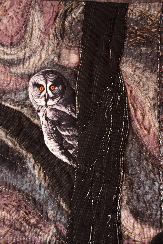 Muskoka Nocturne quilt detail