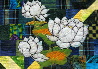 Reflections, Waterlily Bay II quilt detail