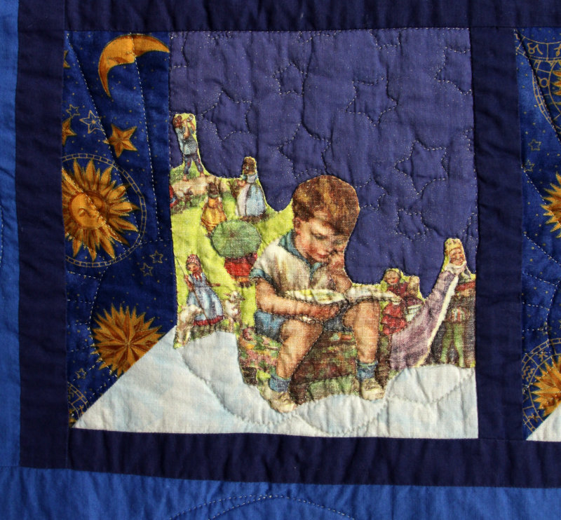 Detail of Andrew`s big boy quilt
