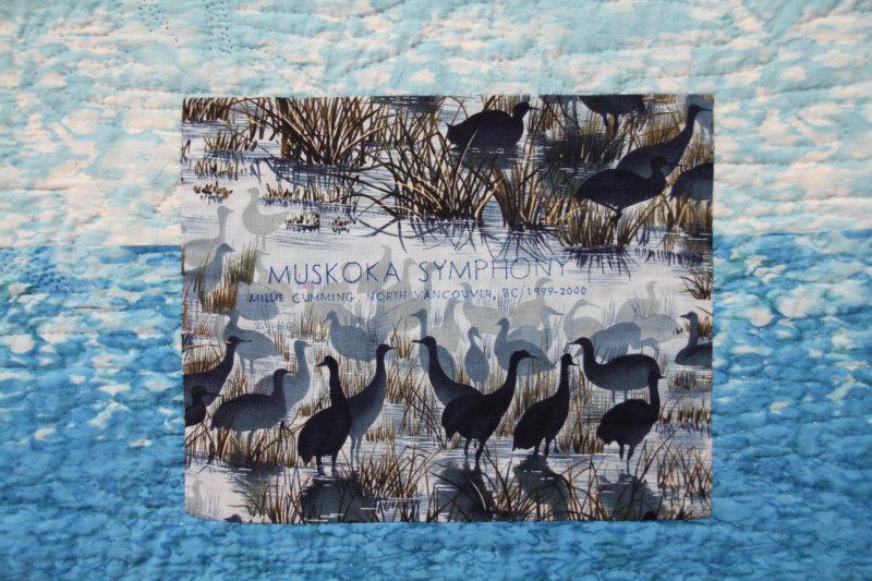 Label on Muskoka Symphony, 2000