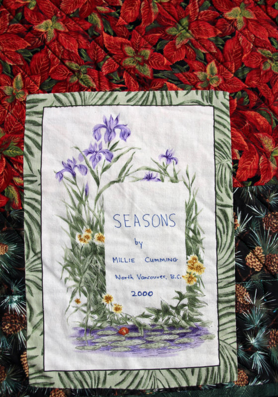 Label on Seasons quilt