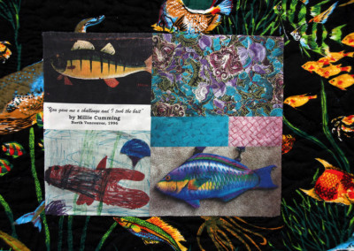 Label on You Gave Me a Challenge and I Took the Bait quilt