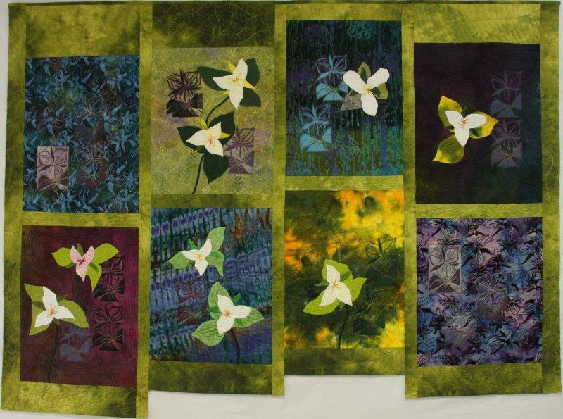 Trillium Song quilt