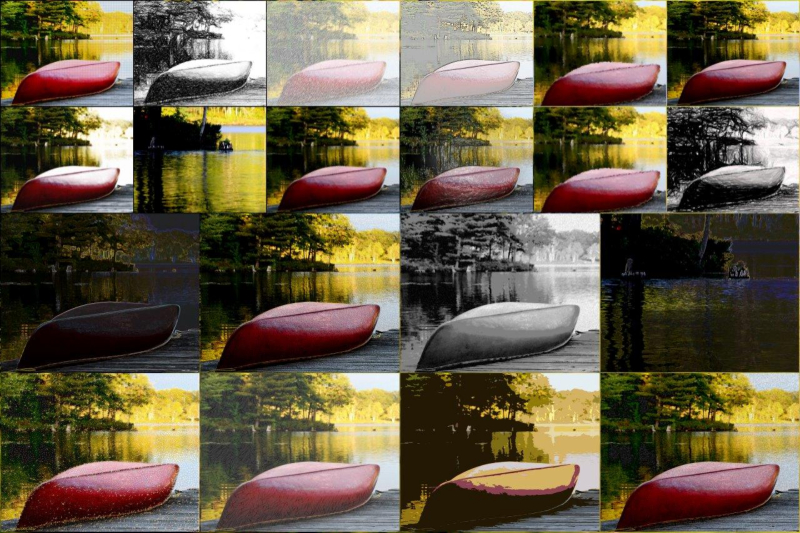Versions of my trusty old canoe