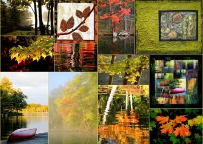 Autumn Cottage Collage by Millie Cumming