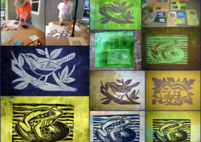 linocuts created by Graeme Chalmers 2020